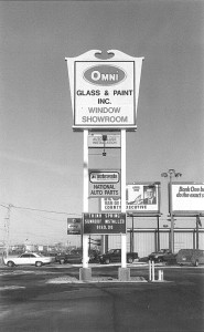 Original Omni Glass and Paint Sign