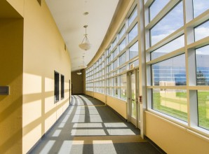 window paint hallway