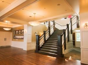 painted black stairway