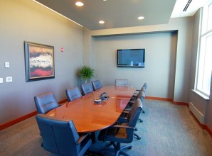 Commercial glass corporate meeting