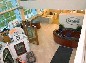 Inside Omni Glass office
